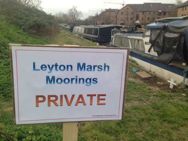 Private moorings at Leyton Marsh