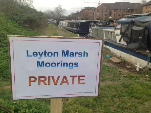 Private moorings at Leyton Marsh